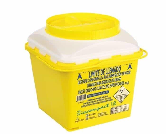 Gestión de Residuos - Contenedor desechable de Residuos Clínicos - Servicio e Higiene