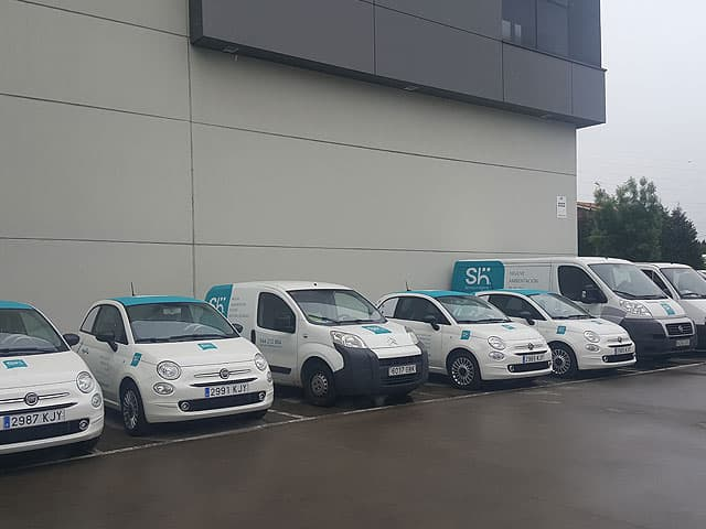 Nueva Flota de coches y furgonetas comerciales de SH Servicio e Higiene
